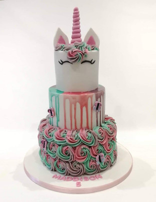 3 Tier Unicorn Cake