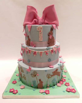 3 Tier 1st Birthday Cake
