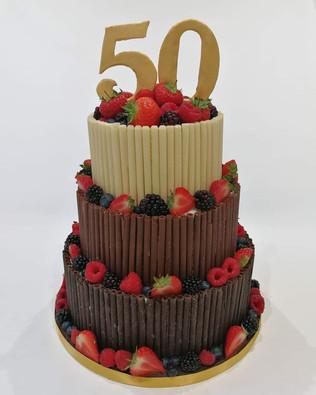 3 Tier Chocolate Cigerello Cake