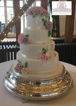 Floral and Lace Wedding Cake .jpg