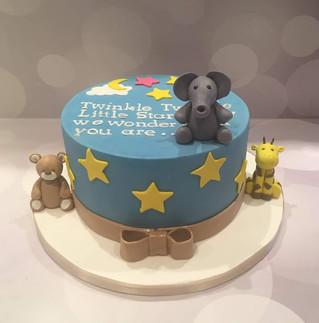 Twinkle, Twinkle Baby Reveal Cake