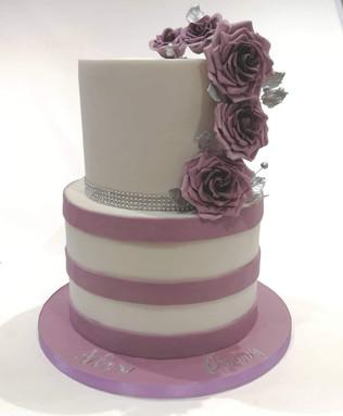 2 Tier Lilac Cake