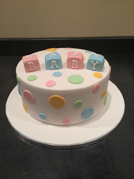 Spotted Baby Shower Cake