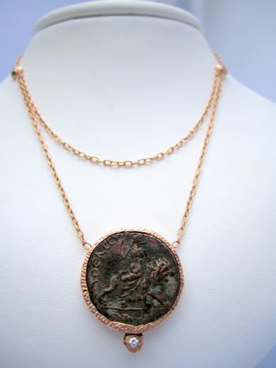 Aphrodite Riding Lion Necklace