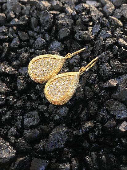 Teardrop Diamond Cluster Earring