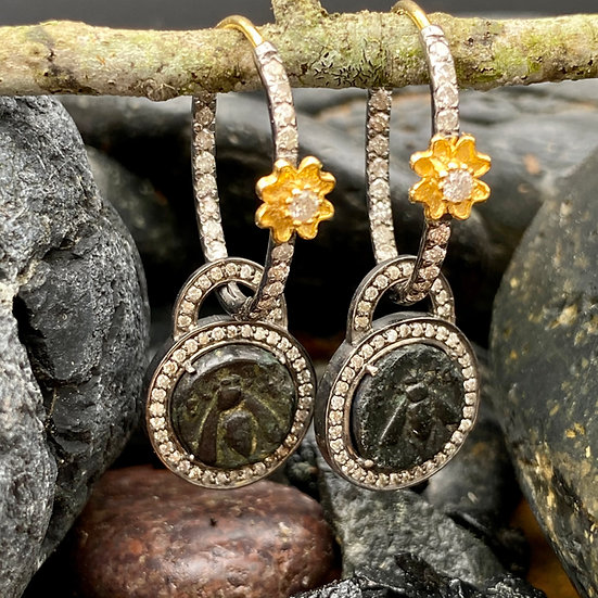 Bee Of Ephesus Dangle Earrings