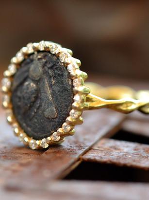 Bronze Bee Ring