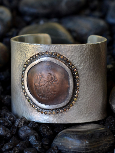 Virgin Mary Cuff Bracelet
