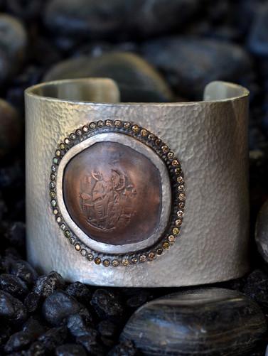 Virgin Mary Cuff Bracelet