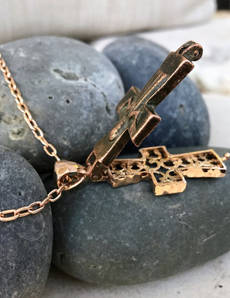 Reliquary Cross Necklace