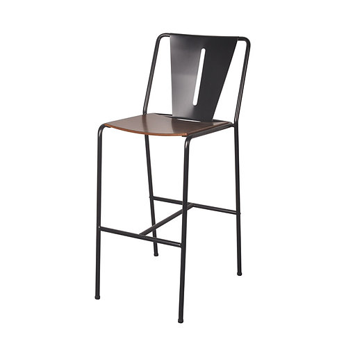 Inicio-V barstool  with bentwood seat (1)
