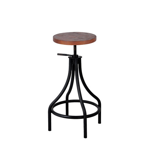 Inicio bistro adjustable highstool with rubberwood seat (1)