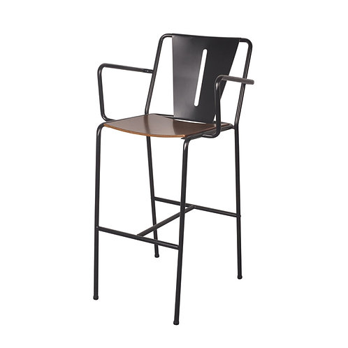 Inicio-V arrm barstool  with bentwood seat (1)