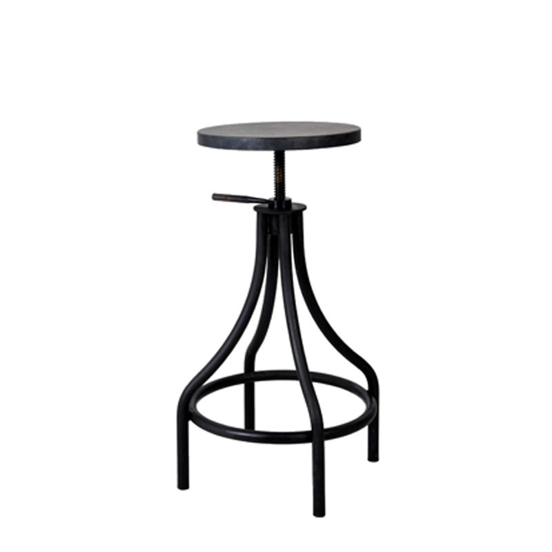 Inicio bistro adjustable highstool with metal seat (1)