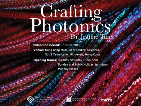 Crafting Photonics exhibtion from 1th-10th Dec 2015