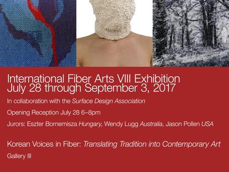 International Biennial Fiber Arts VIII Exhibition in Sebastopol Art Centre, USA