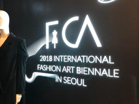 Carrera exhibited at FCA 2018 International Fashion Art Biennale at KIA Beat360, Seoul, South Korea