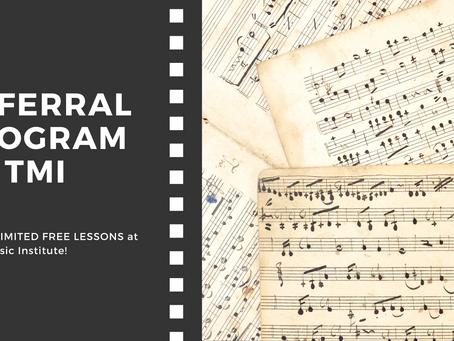 NEW! Referral Program: Earn Free Lessons!