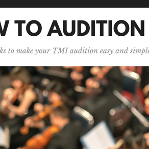 Audition Process for New Students
