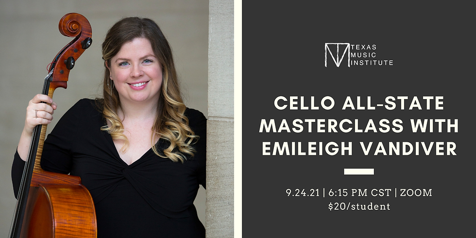Cello Texas All-State Masterclass with Emileigh Vandiver