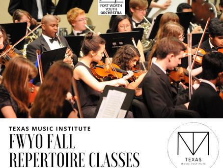FWYO Repertoire Classes | Fall 2020