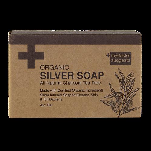 SILVER SOAP, ORGANIC CHARCOAL TEA TREE