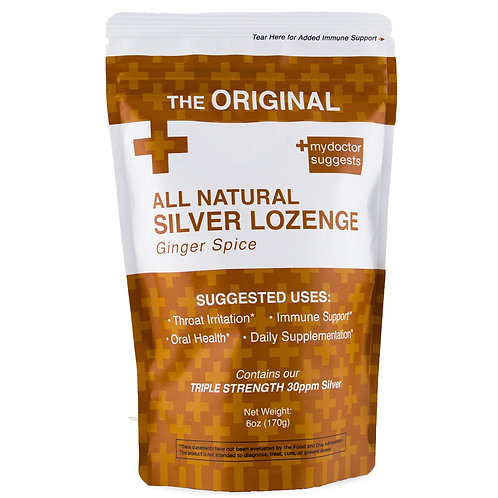 STRUCTURED SILVER LOZENGES, GINGER SPICE, 40 COUNT