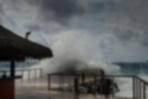 Hurricane Irma as she passes through the