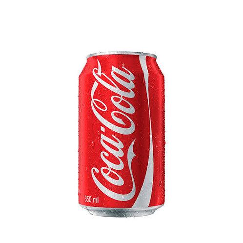 Refrigerante lata coca cola