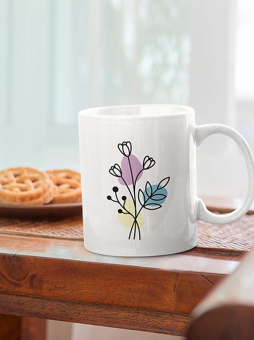 Mug floral graphique   Eva