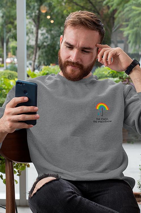 Sweat brodé Umbrella rainbow biologique