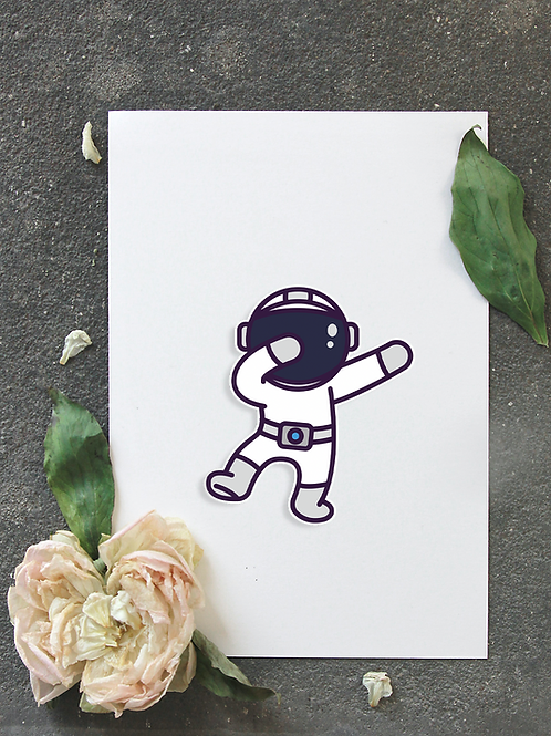 Sticker Astrodab  Astronaute
