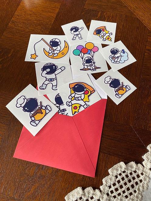 Astronaute - Lot de 6 stickers
