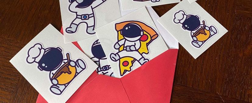 Stickers Astronaute - Lot de 6 (petit et grand)