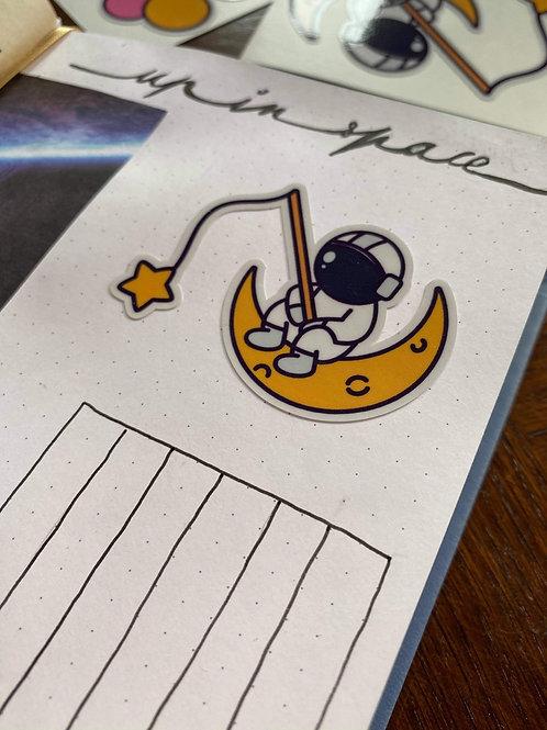 Sticker Astro Moon |Astronaute