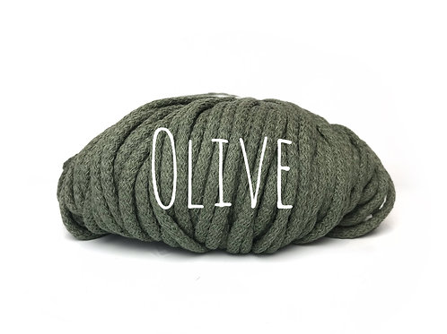 Chunky Cotton yarn - Olive 5mm