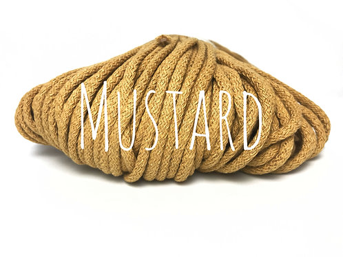 Premium Chunky Cotton yarn - Mustard 5mm