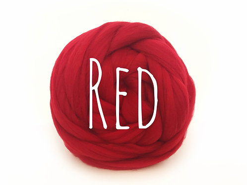 Super Chunky Wool - Red