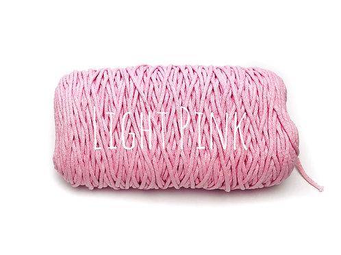 Cotton yarn - Light Pink 3mm for Macrame / Crochet / Knitting