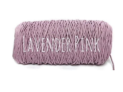 Cotton yarn - Lavender Pink - 3mm for Macrame / Crochet / Knitting