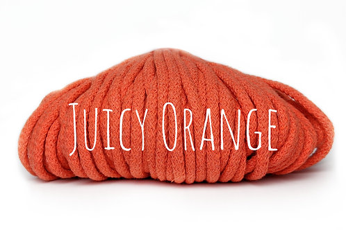 Chunky Cotton yarn - Juicy Orange 5mm