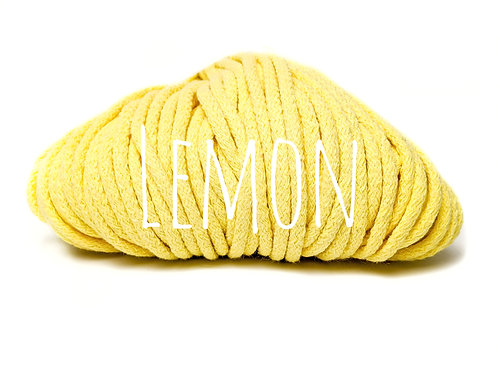 Premium Chunky Cotton yarn - Lemon Yellow 5mm