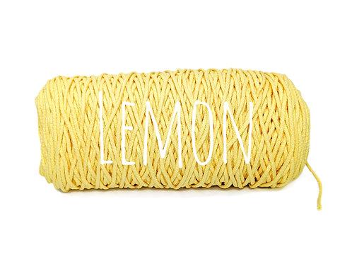 Cotton yarn - Lemon - 3mm for Macrame / Crochet / Knitting