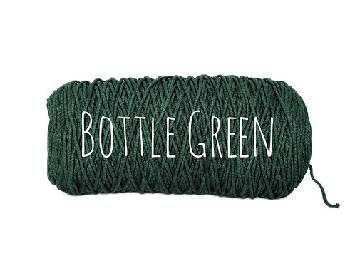 Cotton yarn - Bottle Green - 3mm for Macrame / Crochet / Knitting