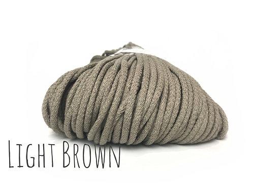 Chunky Cotton yarn - Light Brown 5mm