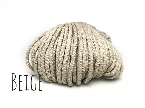 Premium Cotton yarn - Beige/Cappuccino 5mm