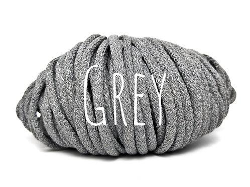 Chunky Cotton yarn - Grey 5mm