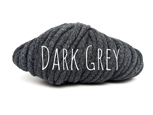 Chunky Cotton yarn - Dark Grey 5mm