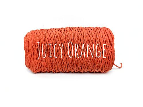 Cotton yarn - Juicy Orange - 3mm for Macrame / Crochet / Knitting