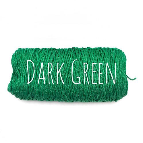Cotton yarn - Green 3mm for Macrame / Crochet / Knitting